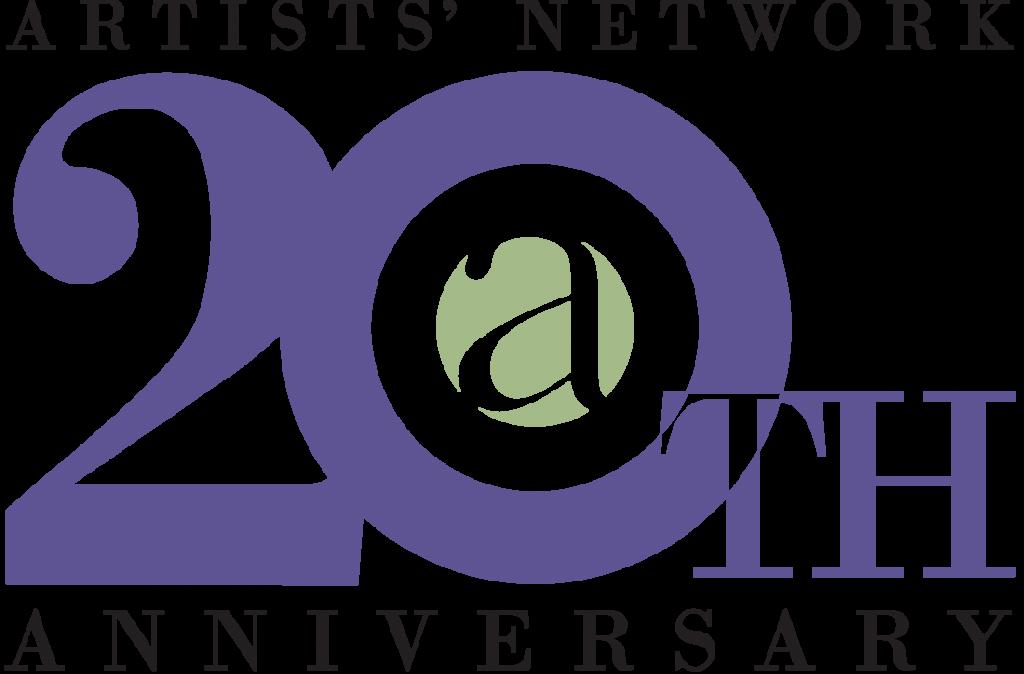 Artists Network Logo 20th purple+green