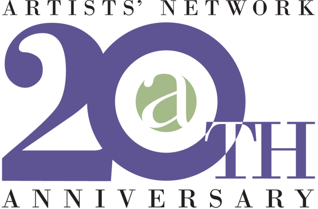 Artists Network Logo 20th purple+green
