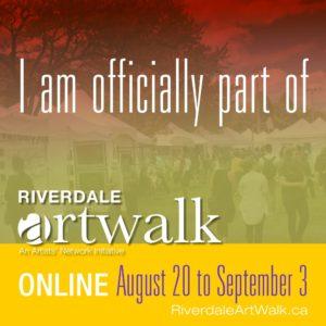 Riverdale ArtWalk - AUGUST - ONLINE ARTIST - IG Graphic